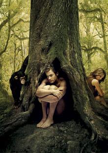 Jungle couple, after argument
