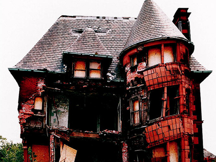 Decaying mansion