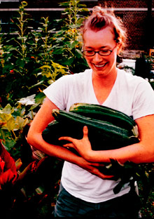 Jodi Willard with zucchini