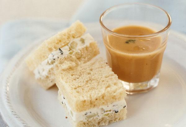 Cucumber-Cream Cheese Sandwiches