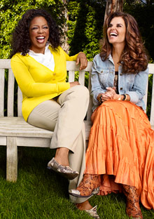 Oprah and Maria Shriver