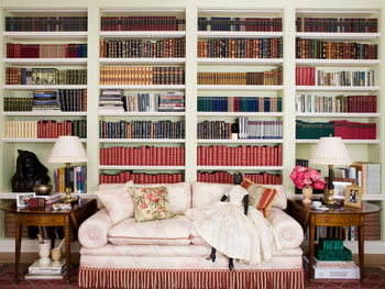 Oprah's bookshelves