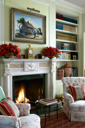 Library mantel
