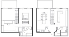 Bedroom Layout at Wonderful Loft Living Space in SoMa, San Francisco