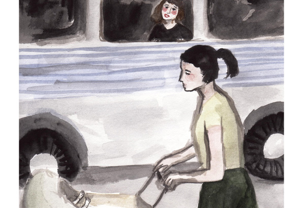 Stroller Illustration