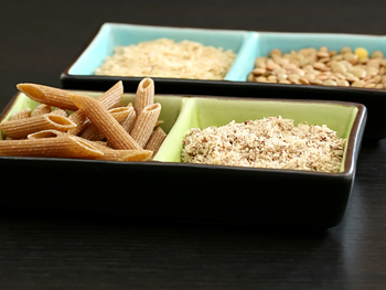 Whole grains in four containers