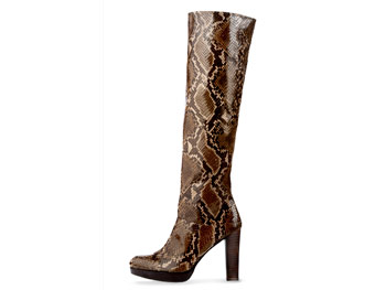Stuart Weitzman for Scoop reptile boots