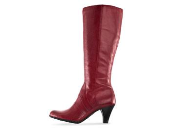 Born crimson boots