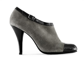 Calvin Klein low patent boots