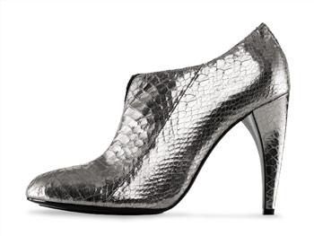 Sam Edelman silver snake boots