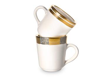 Michael Wainwright 24kt gold rimmed mugs