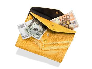 Sondra Roberts faux-lizard wallet