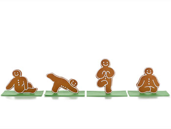 Baked Ideas yoga gingerbread men