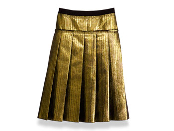 Metallic Dolce and Gabbana skirt
