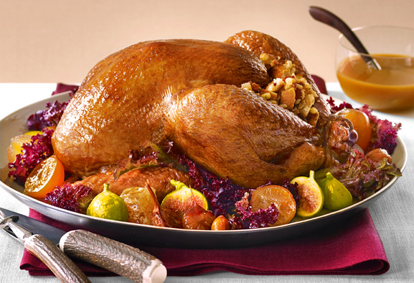 Classic Roast Turkey with Stuffing and Gravy