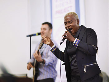Angelique Kidjo at the White House Project event