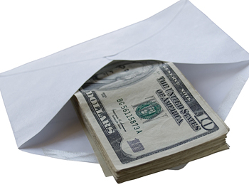 Envelope with money