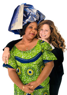 Leymah Gbowee and Abigail Disney