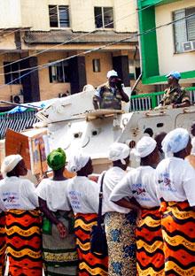 Members of the Women in Peacebuilding Network in 2003.