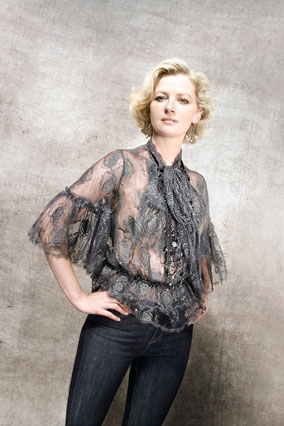 Gretchen Mol in Fidelity Denim and Robert Rodriguez