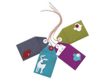 Wool gift tags