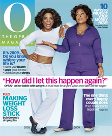 The January cover of O, The Oprah Magazine