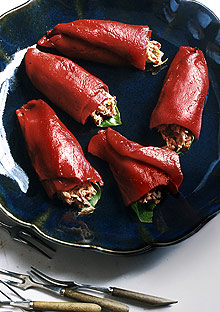 Pequillo Peppers with Mediterranean Tuna Salad