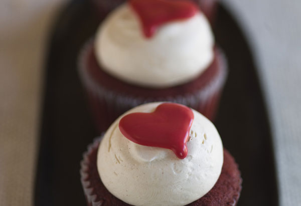 Red-Hot Velvet Cupcakes with Cinnamon Buttercream