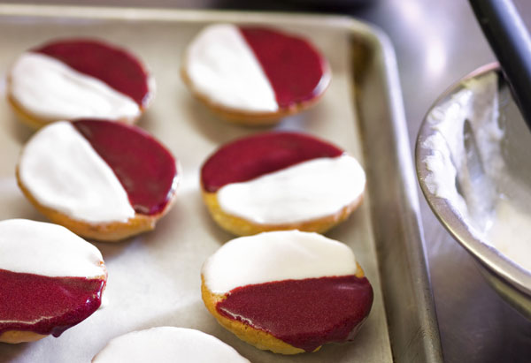 Red-and-White Cookies