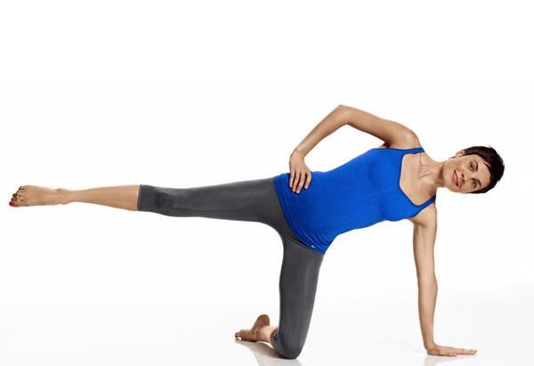 Posture exercise - kneeling side kick