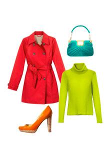 Bright winter clothes