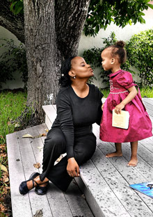 Edwidge Danticat and daughter