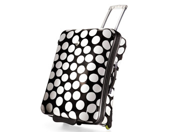 Polka-dot suitcase