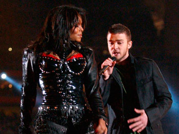 Justin Timberlake and Janet Jackson at the Superbowl