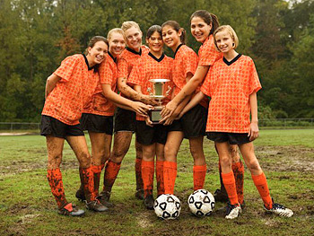 Teen soccer team