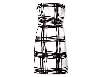 Express black-and-white dress