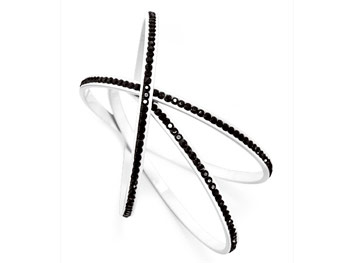 Simple Vera Wang black-and-white bangles