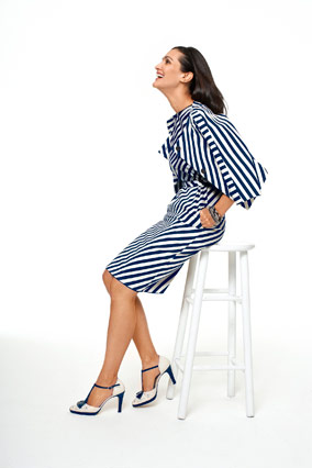 Liz Claiborne striped sheath dress