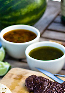 Chimichurri sauces