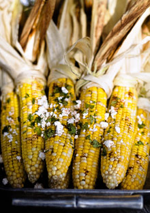 Mexican-Style Corn on the Cob with Lime, Ancho, and Queso Fresco