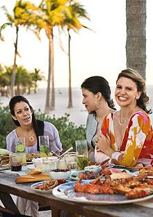 Chef Michelle Bernstein at Miami barbecue