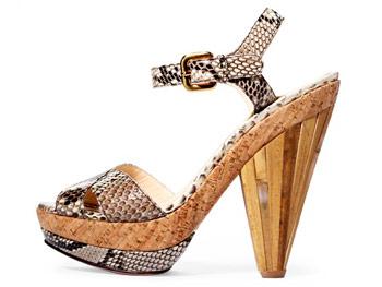 Prada wood heel