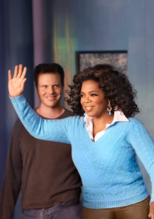 Oprah Winfrey and Bob Greene