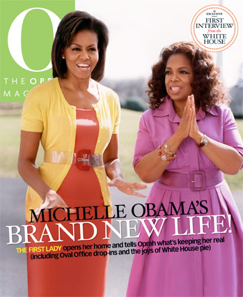 Michelle Obama and Oprah on the O Magazine April 2009 cover