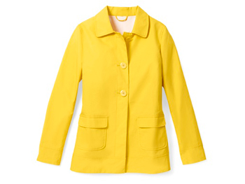 Yellow Old Navy raincoat
