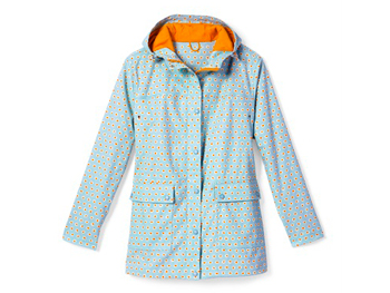 Lands End polka dot raincoat