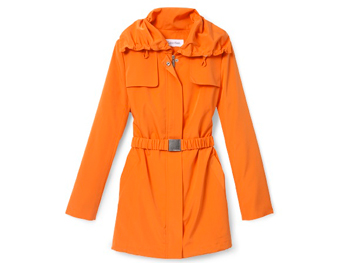 Calvin Klein orange raincoat