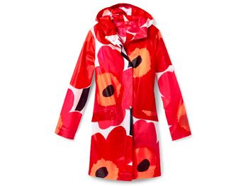 Marimekko poppy raincoat