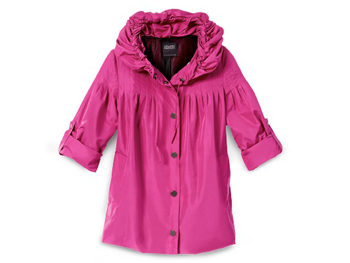 Hilary Radley pink raincoat
