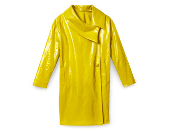 Brigitte yellow raincoat